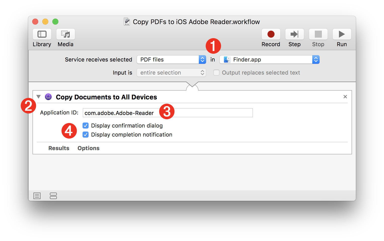 Apple Configurator & Automator: Copy Documents